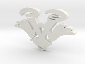 Imas pendant in White Natural Versatile Plastic