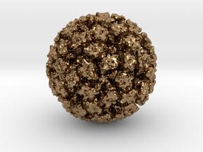 Feline Calicivirus radial colour 1Mx mag in Natural Brass