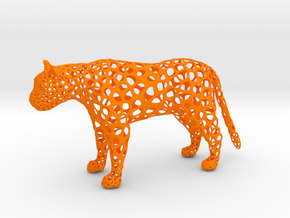 proud Leopard in Orange Strong & Flexible Polished