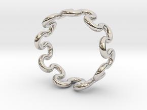 Wave Ring (25mm / 0.98inch inner diameter) in Platinum
