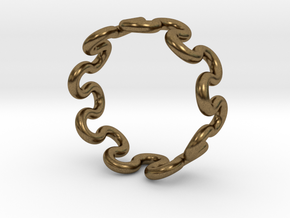 Wave Ring (23mm / 0.90inch inner diameter) in Natural Bronze