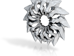 rib charm forsteel 04 spikey (printing) in White Natural Versatile Plastic