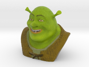 Animated Movies - Shrek Bust in Full Color Sandstone