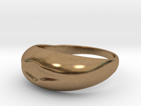 Simple Ring Design in Raw Brass