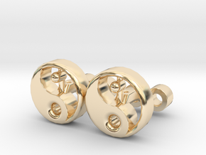Karma Cufflinks Set in 14k Gold Plated Brass