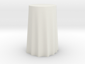 "1:24 Draped Bar Table - 30"" diameter in White Strong & Flexible"