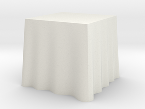 "1:24 Draped Table - 30"" square in White Natural Versatile Plastic"