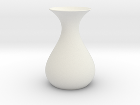 Math Vase in White Natural Versatile Plastic