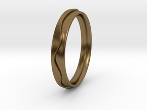 Layered Ring in Natural Bronze
