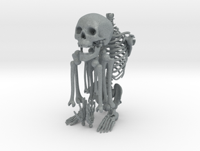 Mr Bones -- Articulated Skeleton in Polished Metallic Plastic