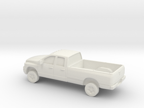 1/87 2006 Dodge Ram Crew Cab/ Long Bed in White Natural Versatile Plastic