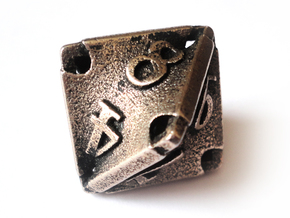 Stretcher d8 in Polished Bronzed Silver Steel
