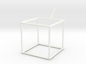 Wire Model for Soap: Cube in White Processed Versatile Plastic