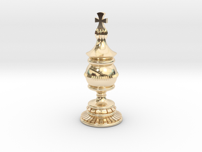 King Chess Piece in 14K Yellow Gold