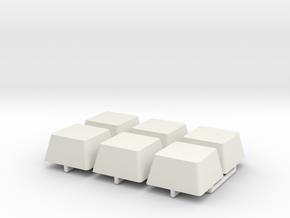 Shoulder Attachment Block in White Natural Versatile Plastic