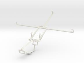 Controller mount for Xbox One & Dell Venue 8 Pro in White Natural Versatile Plastic