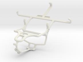 Controller mount for PS4 & Motorola DROID RAZR XT9 in White Natural Versatile Plastic