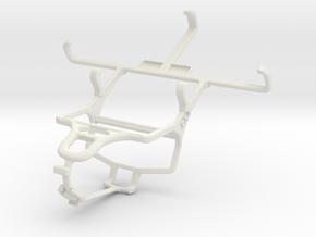 Controller mount for PS4 & Motorola Moto X in White Natural Versatile Plastic