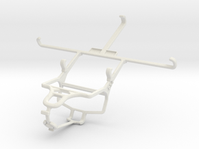 Controller mount for PS4 & Samsung Galaxy Mega 6.3 in White Natural Versatile Plastic