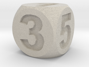 Number Die, Standard Size 16mm in Natural Sandstone