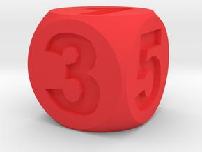 Number Die, Standard Size 16mm in Red Processed Versatile Plastic