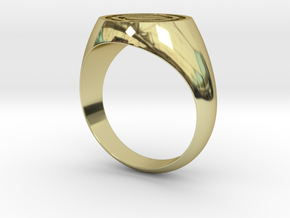Stylized Spacecraft Ring in 18k Gold Plated Brass