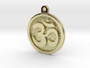 Om Pendant in 18k Gold Plated Brass