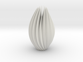 9 inch twist sculpture in White Natural Versatile Plastic