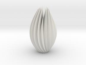 9 inch twist sculpture in White Natural Versatile Plastic