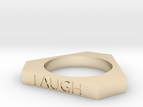 Live Love Laugh Ring (Size 7) in 14k Gold Plated Brass