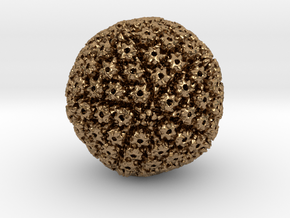 Herpes Simplex virus capsid, radial colour 500kx m in Natural Brass