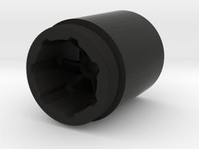 Chuff Cap 2 in Black Natural Versatile Plastic