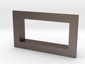Square .28 Voltmeter Bezel in Polished Bronzed Silver Steel