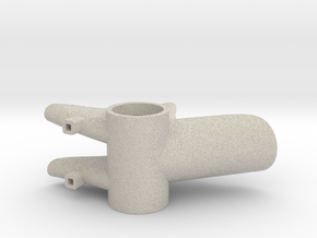 Bicycle Bottom Bracket Shell Pencil Holder  in Natural Sandstone