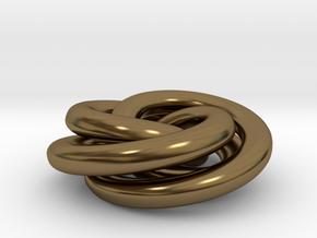 Torus Knot Pendant in Polished Bronze