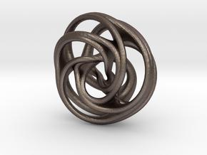 Scherk-Collins Earring 2 in Polished Bronzed Silver Steel