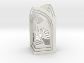 Two Angel - Prayer in Kiosk in White Natural Versatile Plastic