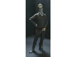SE scale Brit with a cane in Smooth Fine Detail Plastic