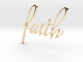 Faith Connector in 14k Gold Plated Brass