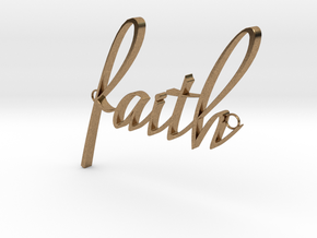 Faith Connector in Natural Brass
