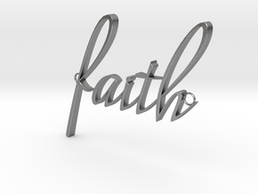 Faith Connector in Raw Silver