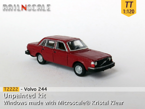 Volvo 244 DL (TT 1:120) in Smooth Fine Detail Plastic