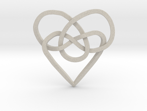 Infinity Heart Knot Pendant in Natural Sandstone