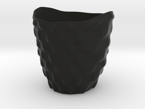 "Vase 'Bubbles' - 8cm / 3.15"" in Black Natural Versatile Plastic"