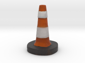Traffic Cone Meme  in Full Color Sandstone