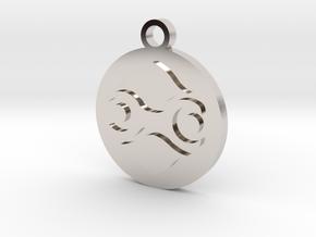 Legend of Zelda Gerudo Symbol Pendant Necklace in Rhodium Plated Brass