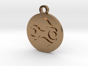 Legend of Zelda Gerudo Symbol Pendant Necklace in Natural Brass