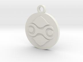 Legend of Zelda Gerudo Symbol Pendant Necklace in White Natural Versatile Plastic