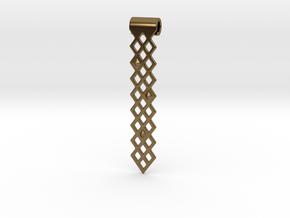 Diamonds Pendant in Natural Bronze