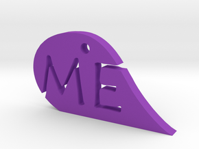 We Me Mirror Heart  in Purple Processed Versatile Plastic